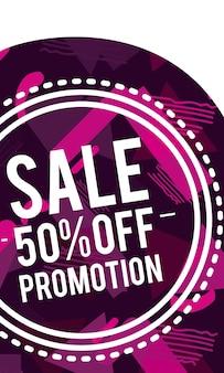 Vendite, promozioni e sconti flyer e banner