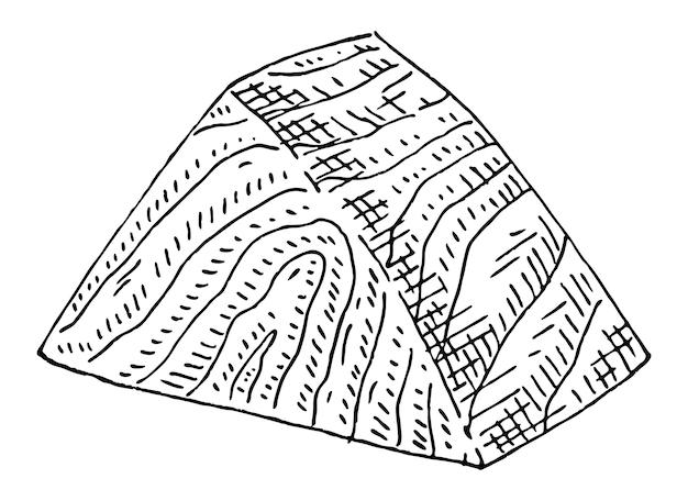 Fetta di salmone su sfondo bianco illustrazione vettoriale vintage monocromatico nero illustrazione
