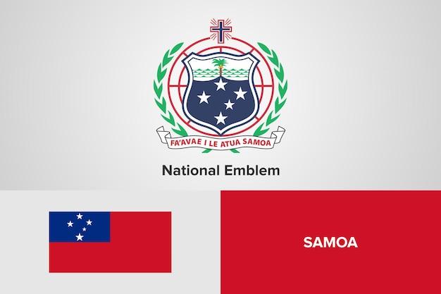 Modello di bandiera nazionale emblema di samoa