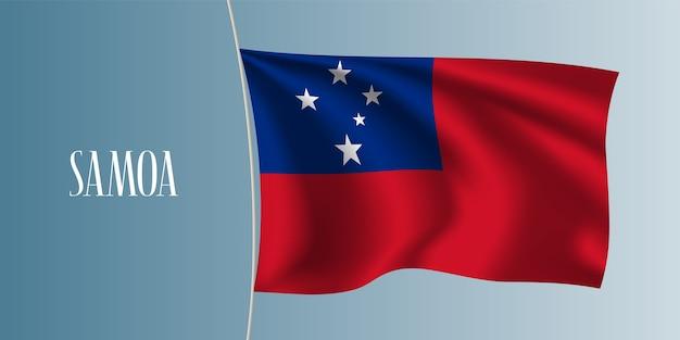 Samoa sventola bandiera illustrazione