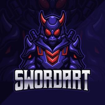 Samurai assassin esport logo gaming