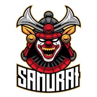 Samurai clown esport logo