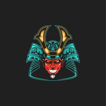 Illustrazione del diavolo samurai