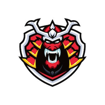 Modelli di logo samurai esports