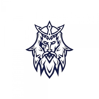 Progettazione di logo dell'esport della testa del samurai con stile moderno di concetto dell'illustrazione