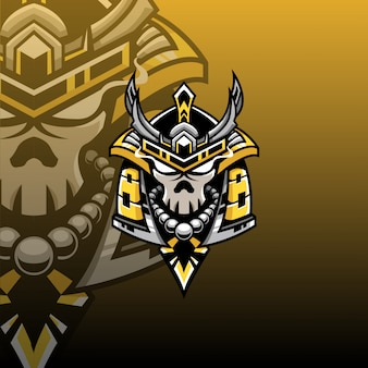 Logo samurai head mascot