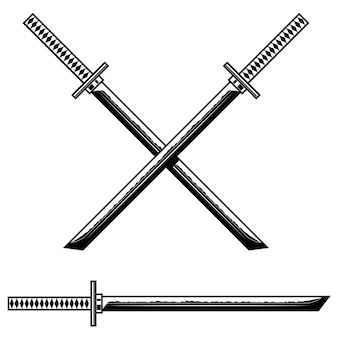 Illustrazione di spada katana samurai