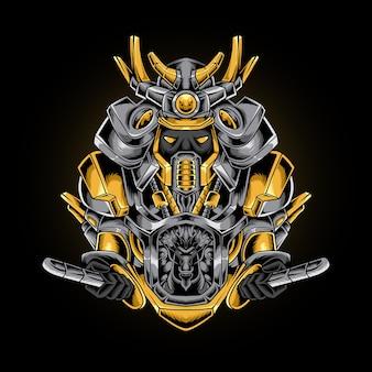 Stile robotico mecha guerriero samurai