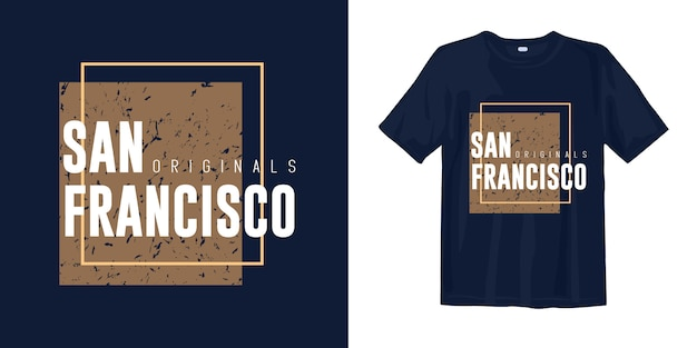 T-shirt grafica san francisco dal design elegante