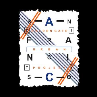 Design tipografia di san francisco