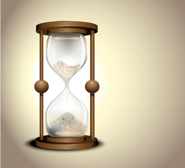 Ora dell'orologio della sabbia. antico orologio a clessidra
