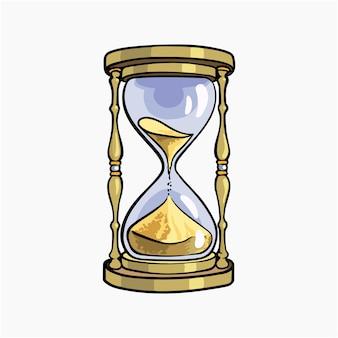 Orologio di sabbia illustrazione vettoriale cartoon