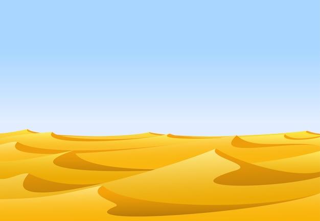 Paesaggio del deserto di sabbia