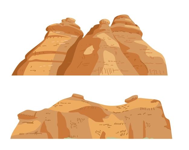 Formazioni di rocce di sabbia isolate su bianco