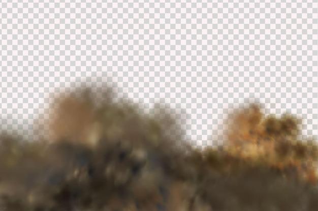 Tempesta di sabbia su sfondo trasparente
