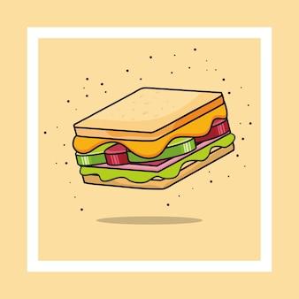 Icona di sandwich. illustrazione del panino.