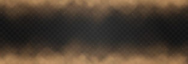 Nuvola di polvere sabbiosa