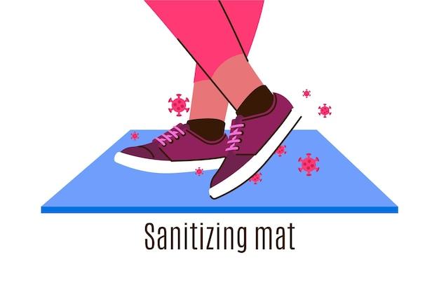 Illustrazione di tappetino igienizzante