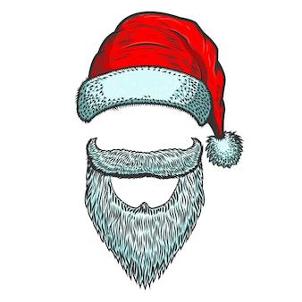 Cappello e barba di babbo natale