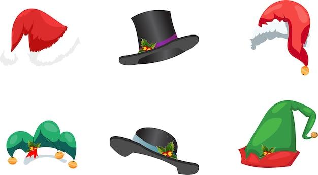 Set cappelli di babbo natale collezione natalizia
