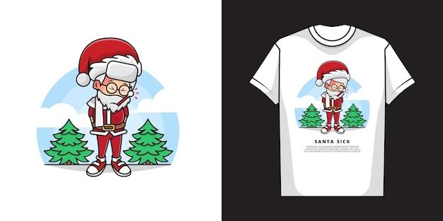 Design della maglietta di babbo natale
