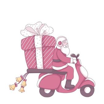 Illustrazione di consegna di babbo natale