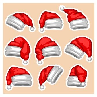 Cappello da babbo natale cappello da babbo natale decorazioni natalizie ornamenti natalizi