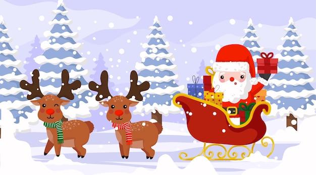 Santa pronta a consegnare il regalo di natale