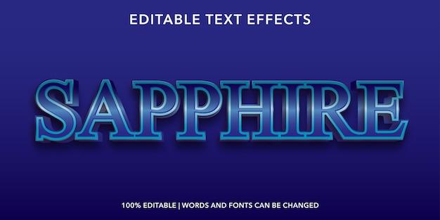 Effetto di testo modificabile in stile 3d zaffiro