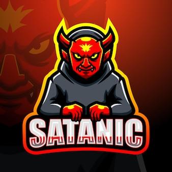 Illustrazione di esport mascotte satanica