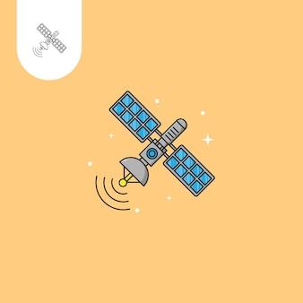 Disegno vettoriale satellitare uso perfetto per l'icona del design del modello web ui ux ecc
