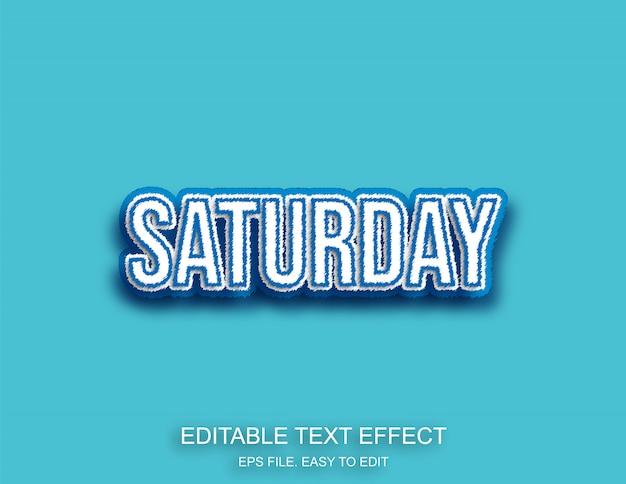 Scritta blu di sabato