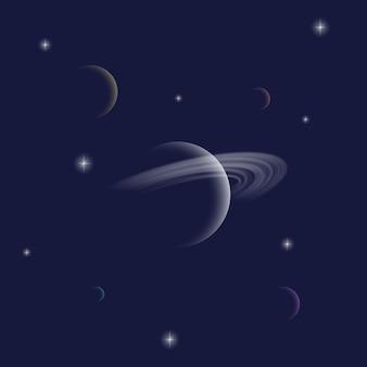 Saturno pianeta astratto