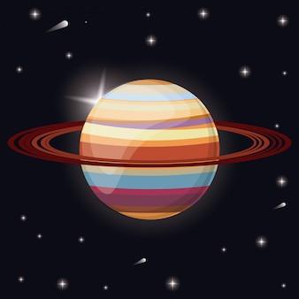 Saturno pianeta sistema solare spazio