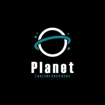 Saturnus pianeta orbita simbolo logo design