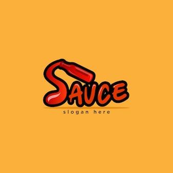Logo della salsa icona del cibo logo del ristorante