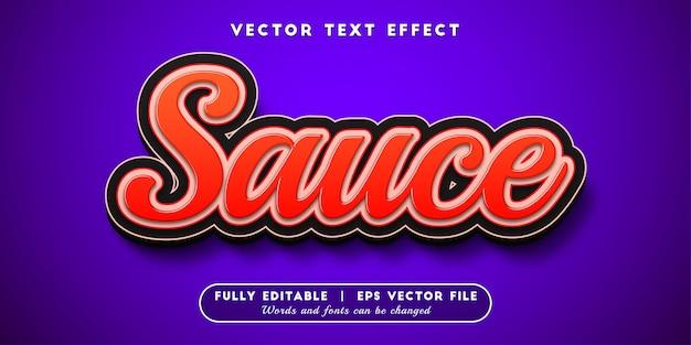 Effetto testo salsa, stile di testo modificabile