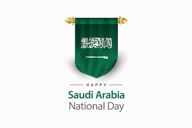 Modello di giorno dell'indipendenza dell'arabia saudita.