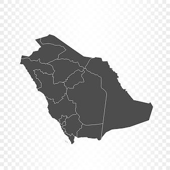 Rendering isolato mappa arabia saudita