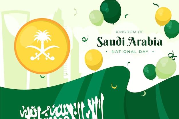Sfondo della festa nazionale saudita