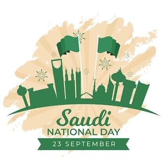 Concetto di festa nazionale saudita