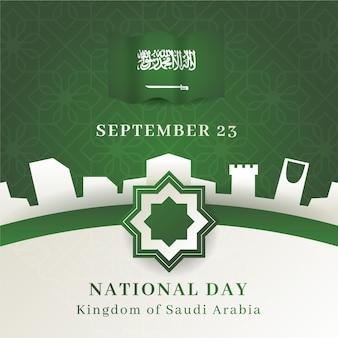 Illustrazione di festa nazionale saudita