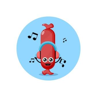 Salsiccia musica simpatico personaggio