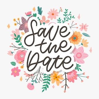 Salva la scritta della data, carta di matrimonio