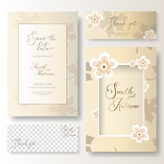 Salvare la carta di anniversario di matrimonio giorno speciale di data con carta di ringraziamento