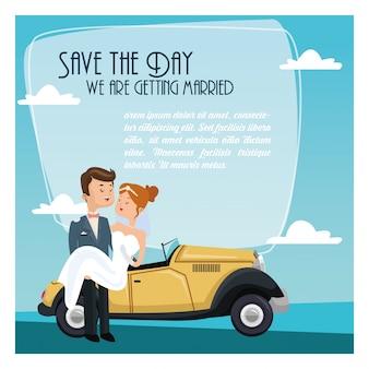 Salva l'icona del matrimonio della data