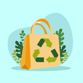 Salvare la terra con il simbolo del riciclaggio