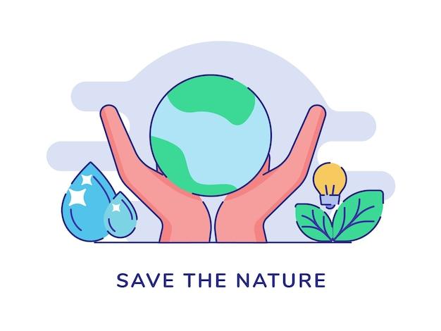 Salvare il concetto di natura con le mani tenere la terra