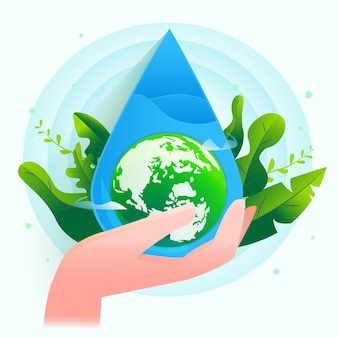 Salvare l'illustrazione dell'acqua