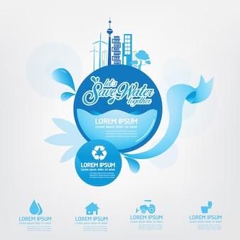 Risparmia l'acqua l'acqua è vita